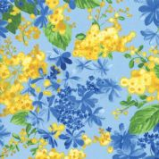 Moda - Summer Breeze 2019 - 7074 - Mixed Floral on Light Blue - 33441 16 - Cotton Fabric